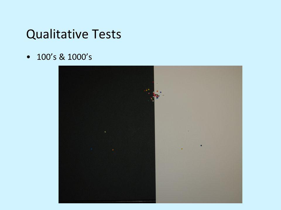 Qualitative Tests 100s & 1000s