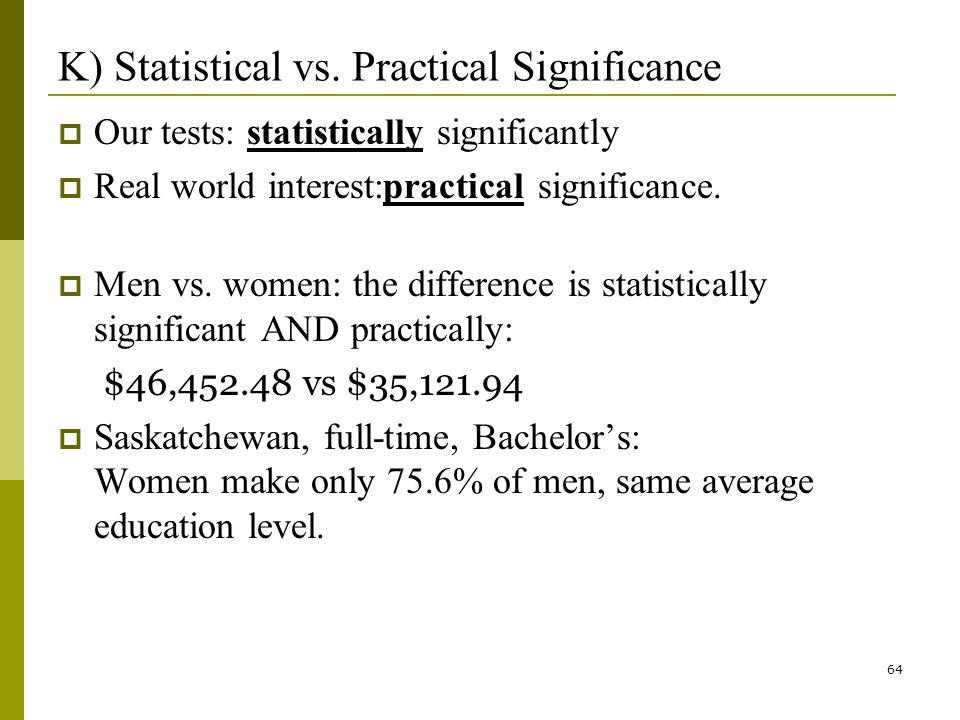 64 K) Statistical vs.