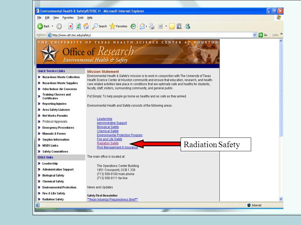 Radiation Safety