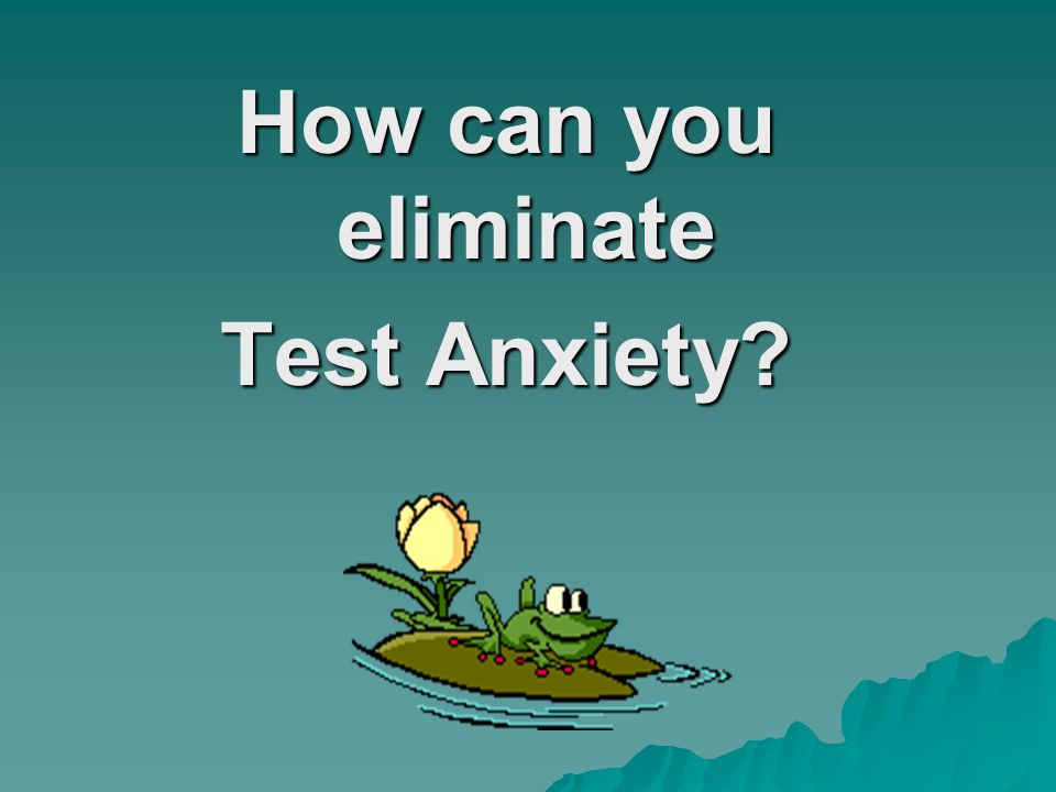 Who is Affected by Test Anxiety.