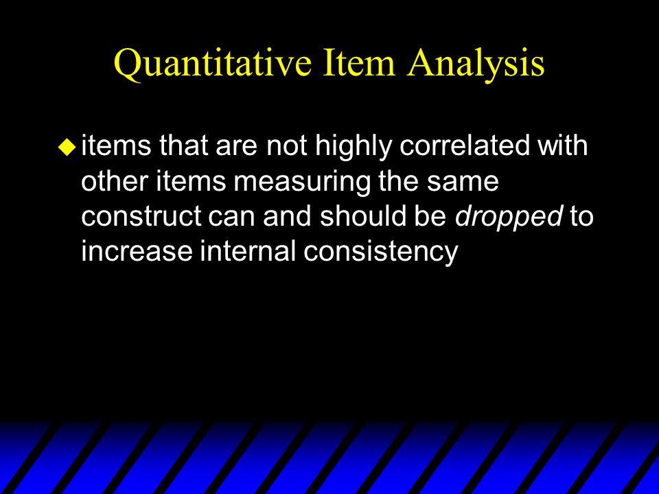 Item Discrimination (contd): Interitem Correlation Possible causes for low inter-item correlation: a.