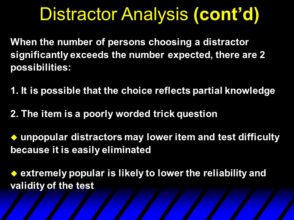 Item Difficulty Analysis u Description and How to Compute ex: a) (6 X 3) + 4 = .