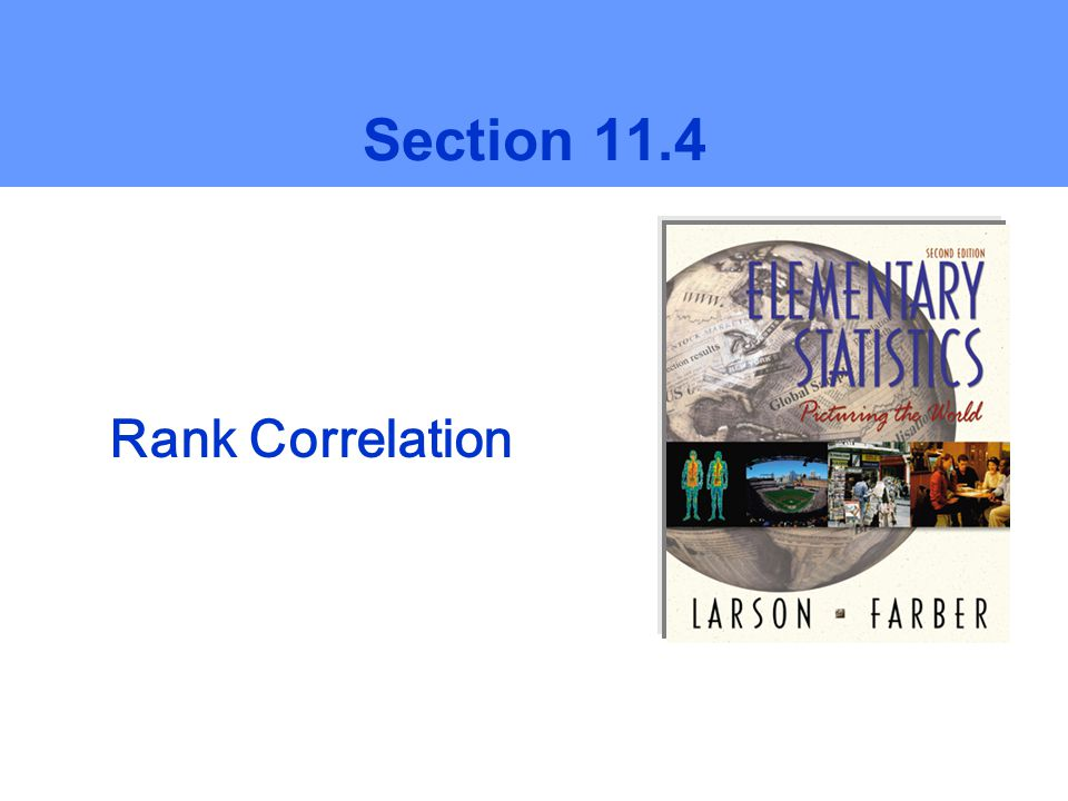 Rank Correlation Section 11.4