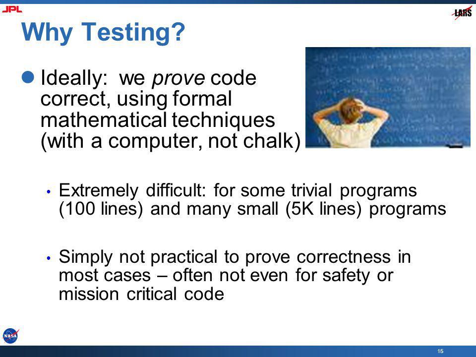 15 Why Testing.