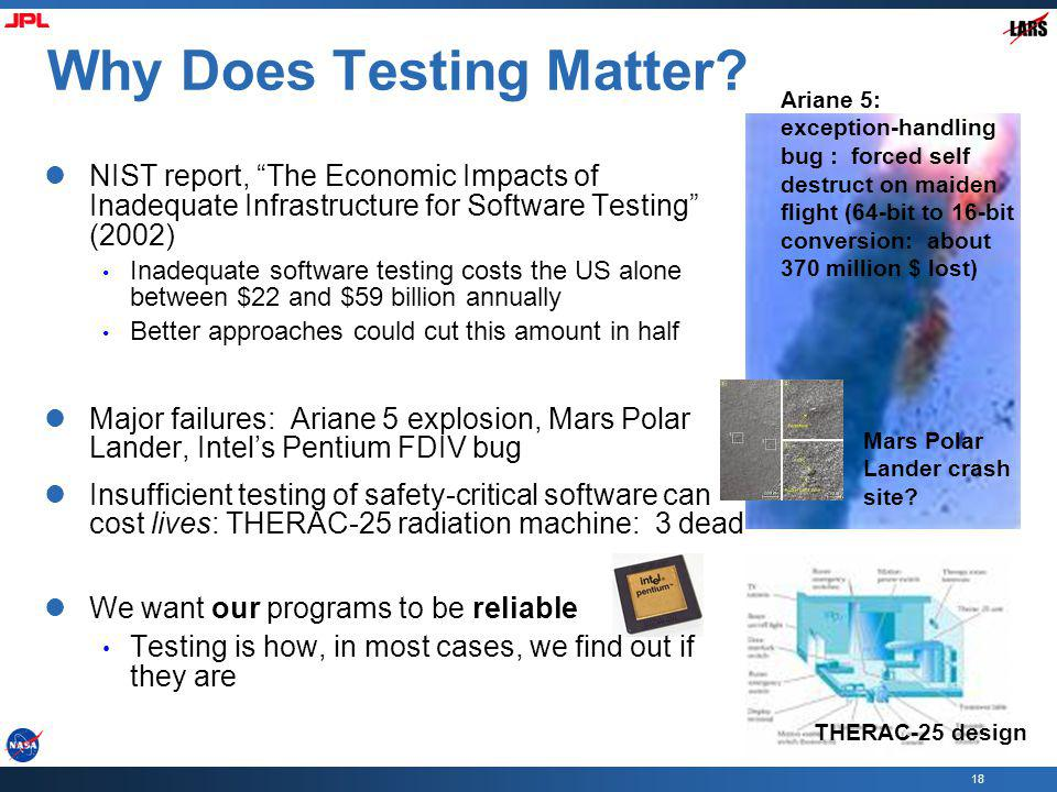 18 Why Does Testing Matter.