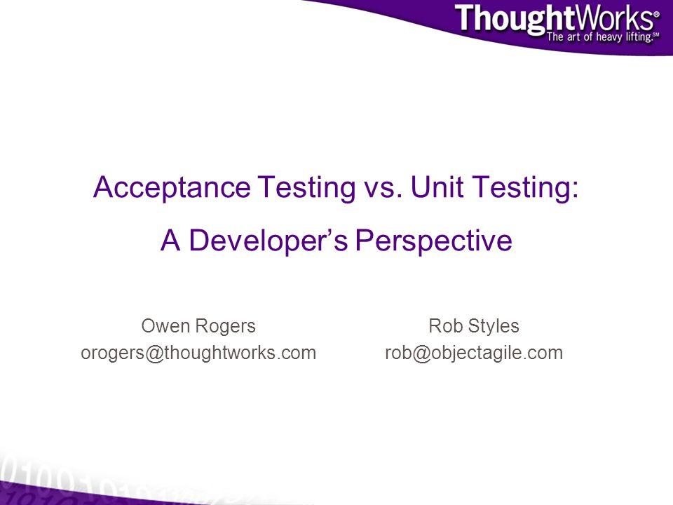 Acceptance Testing vs.