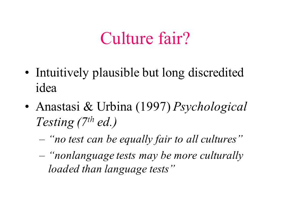 Culture fair.