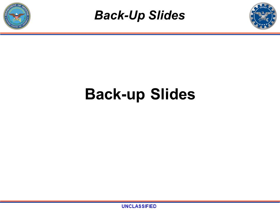 UNCLASSIFIED Back-up Slides Back-Up Slides