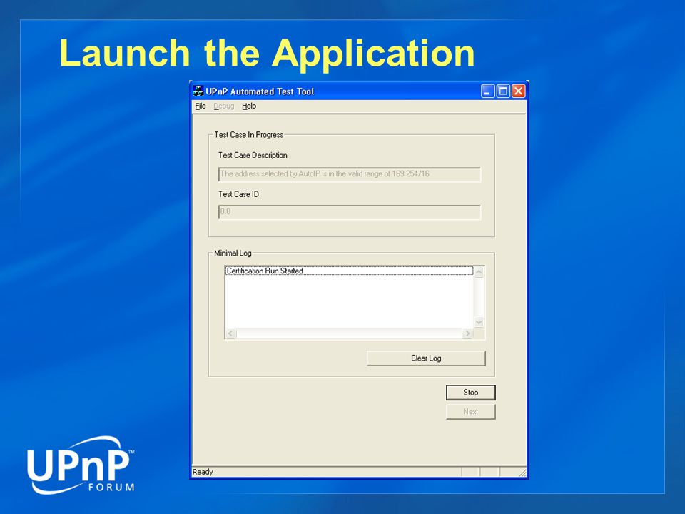 Launch the Application