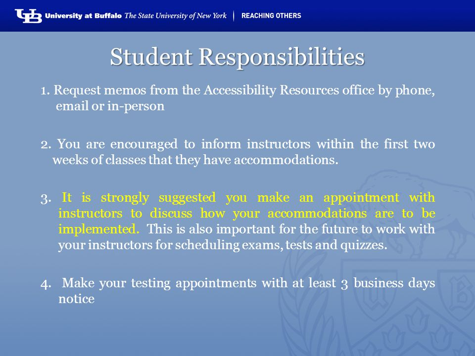 Student Responsibilities 1.