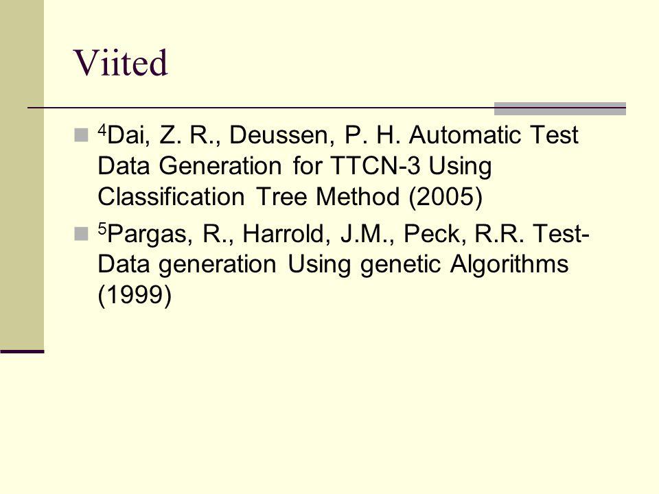 Viited 4 Dai, Z.R., Deussen, P. H.