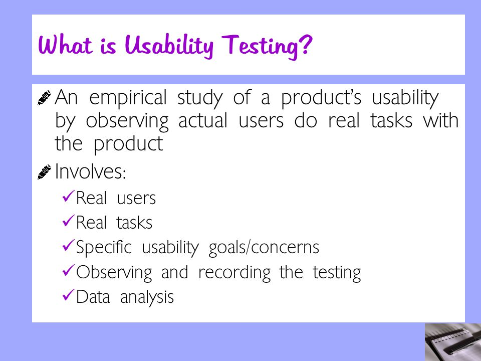 What is Usability Testing.