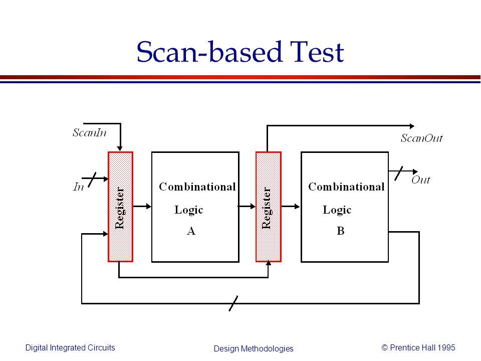 Digital Integrated Circuits© Prentice Hall 1995 Design Methodologies Scan-based Test