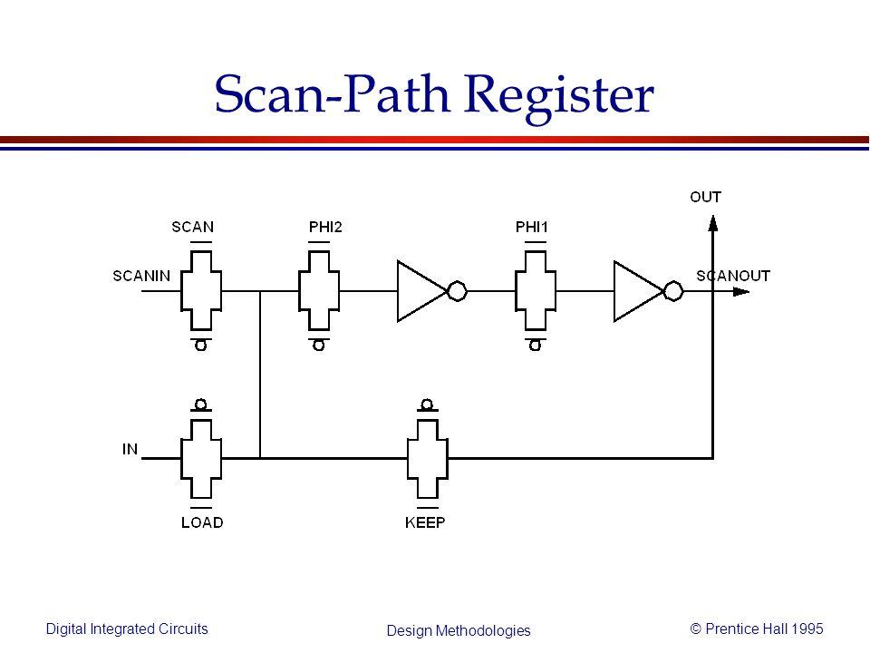 Digital Integrated Circuits© Prentice Hall 1995 Design Methodologies Scan-Path Register