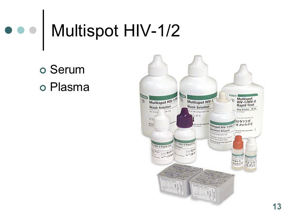 13 Multispot HIV-1/2 Serum Plasma