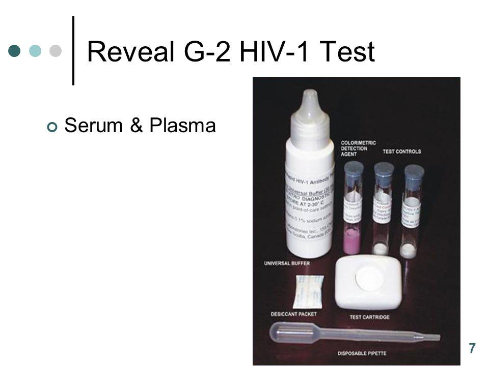 7 Reveal G-2 HIV-1 Test Serum & Plasma