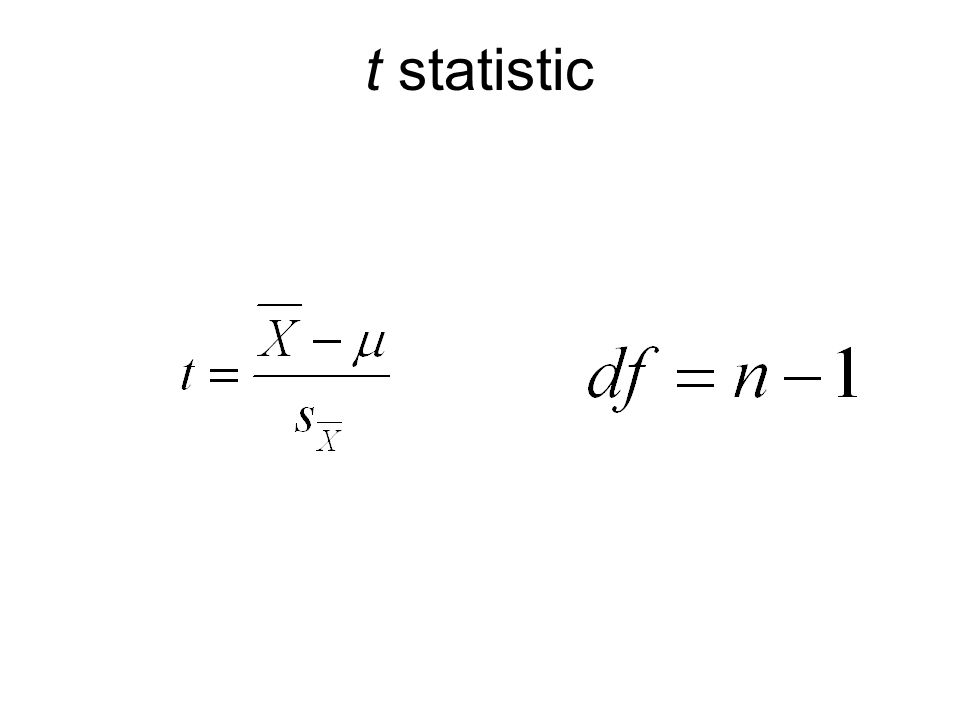 t statistic