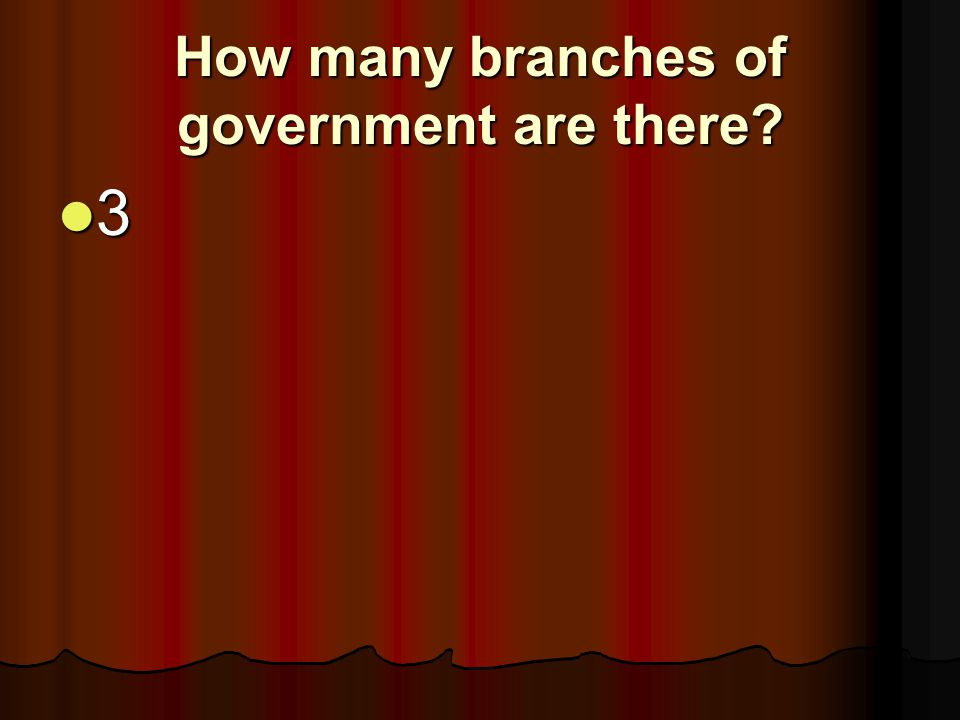 How many branches of government are there? 3