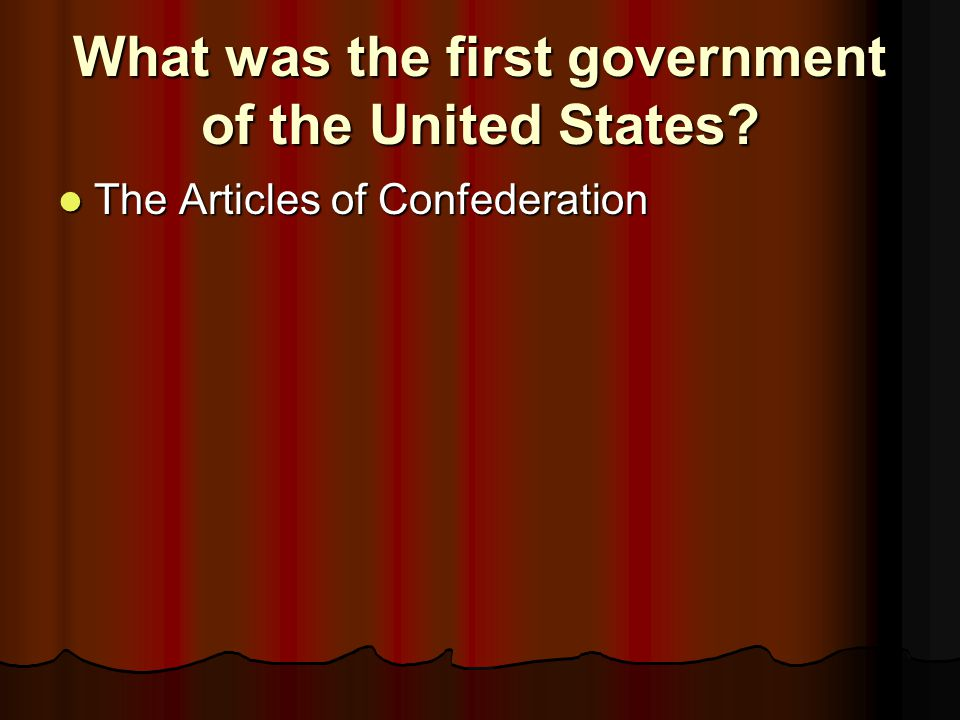 Why were the Articles of Confederation written.