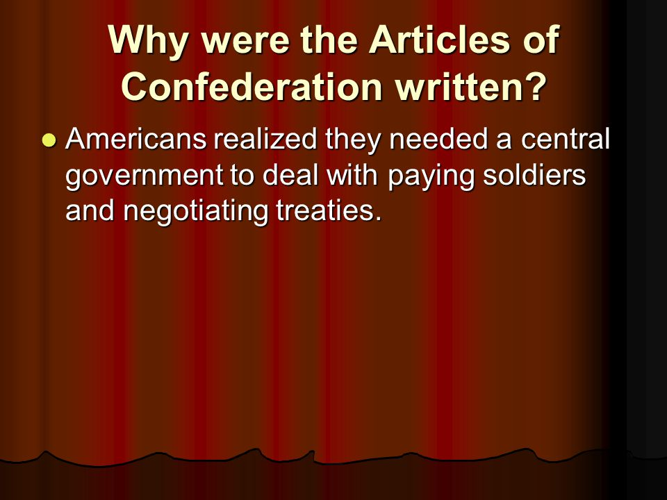 What were the weaknesses of the Articles of Confederation.