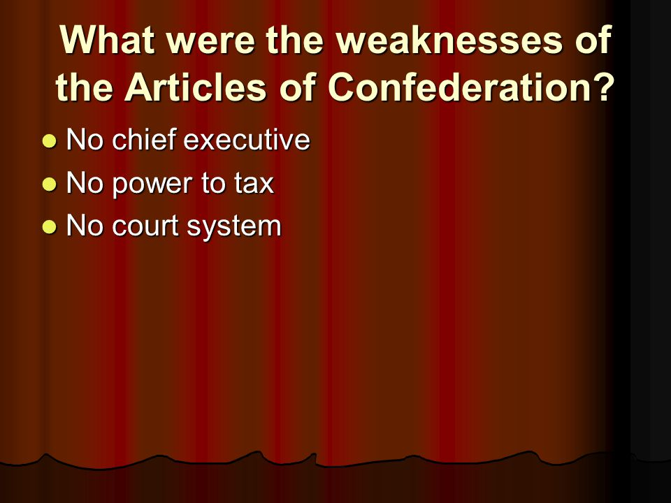 What had the most power under the Articles, the federal government or the state governments.