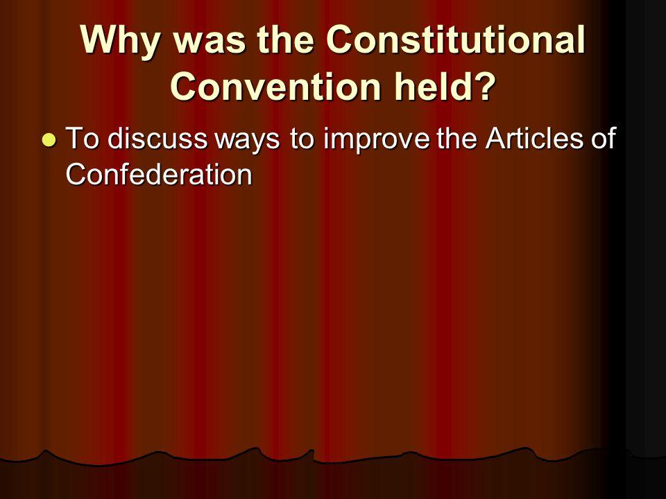 What city did the Constitutional Convention meet in? Philadelphia Philadelphia