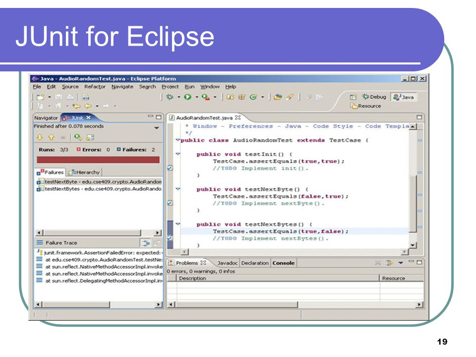 19 JUnit for Eclipse
