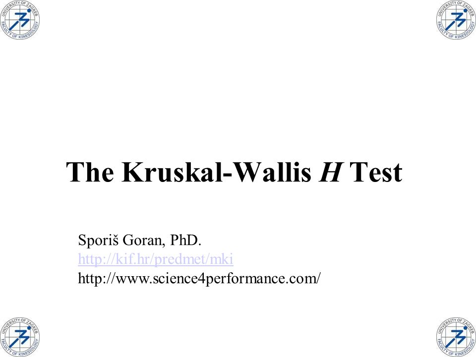 Kruskal-Wallis H TestThe Kruskal-Wallis H Test is a nonparametric procedure that can be used to compare more than two populations in a completely randomized design.