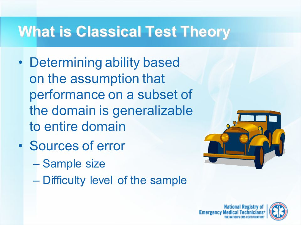 Other Benefits of CBT Increased testing flexibility Enhanced exam security Increased professionalism of EMS