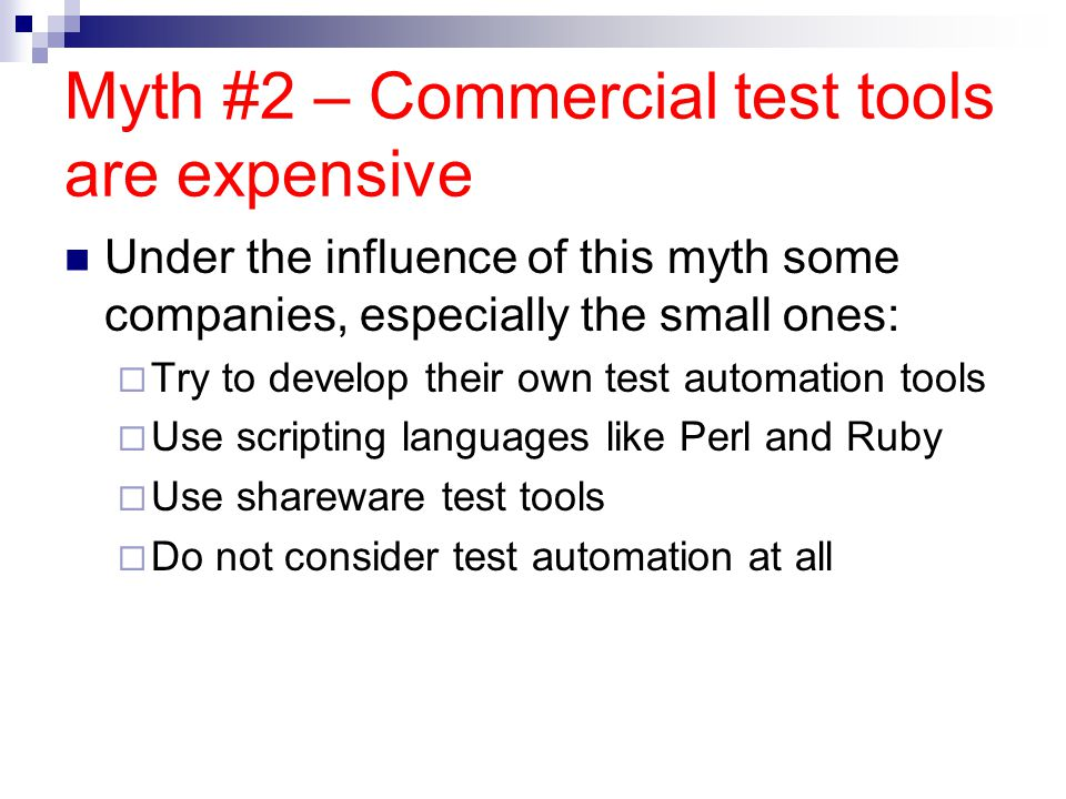 Automation Real ROI ROI value IS NOT the value of Automation vs.