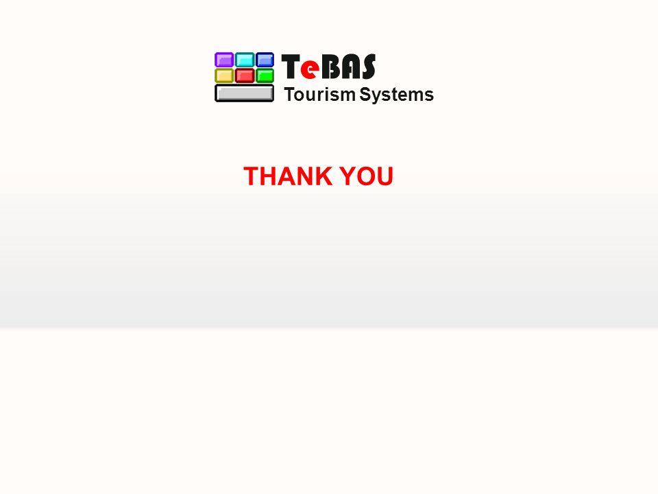 Tourism Systems TeBAS THANK YOU