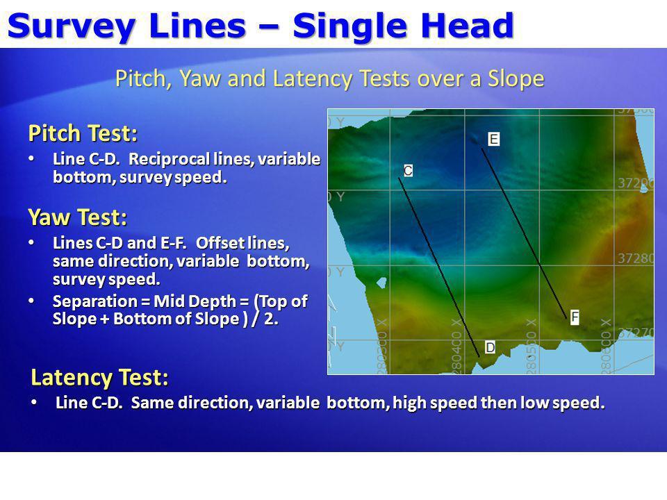 Survey Lines – Dual Head Overlap: Green = Port Head.