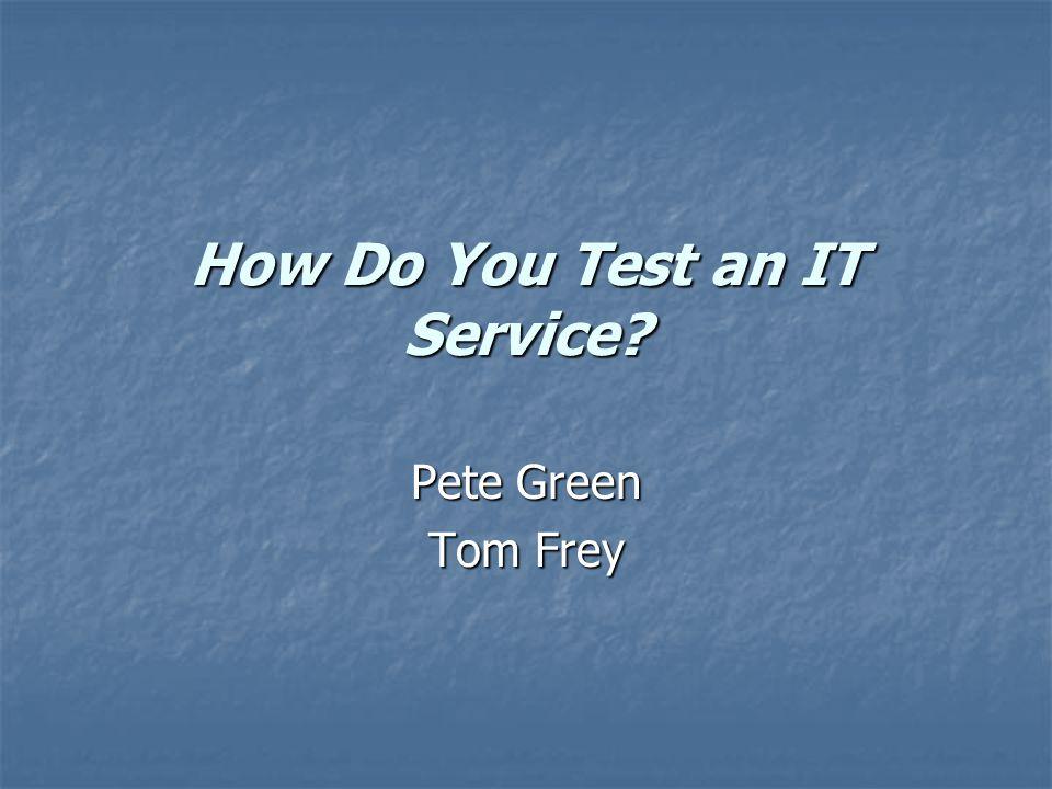 Testing and Program Execution