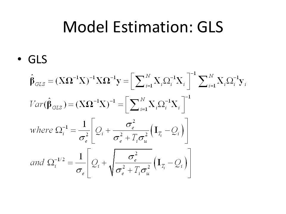 Hypothesis Testing Alternative Hausman Test – Estimate the random effects model – F Test that = 0