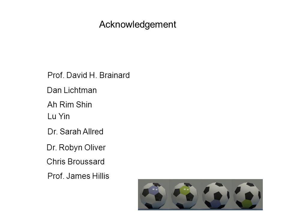 Prof. David H. Brainard Ah Rim Shin Lu Yin Dan Lichtman Dr.