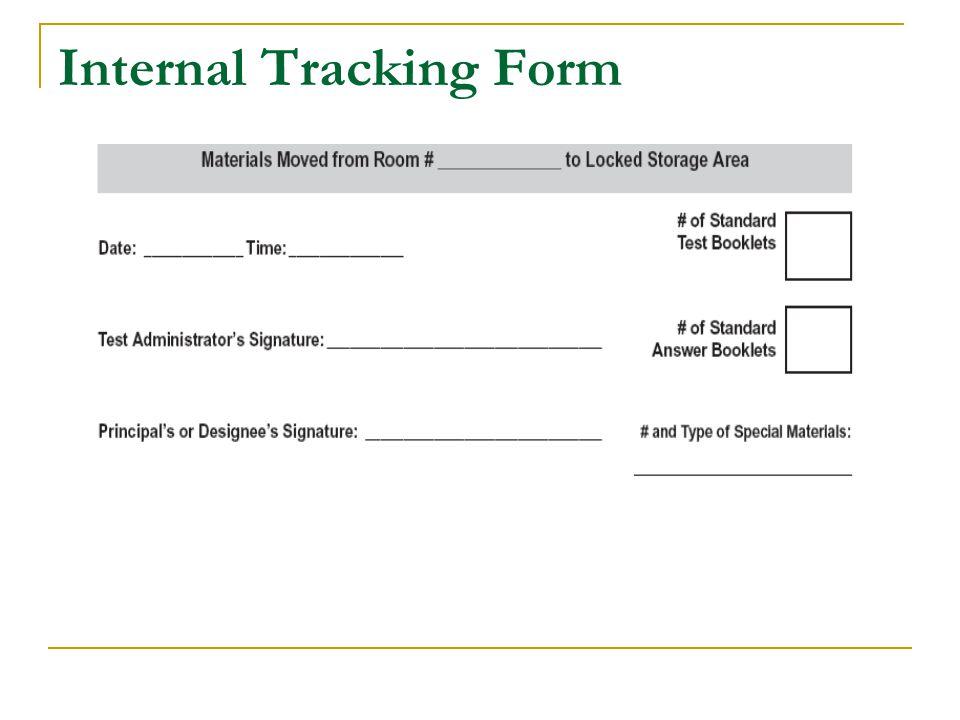 Internal Tracking Form