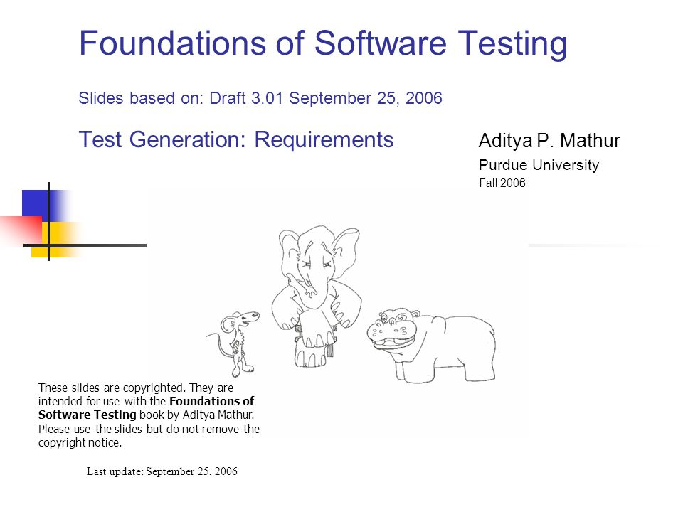 © Aditya P.Mathur 2006 72 BVA: In-class exercise Is T the best possible test set for findPrice.
