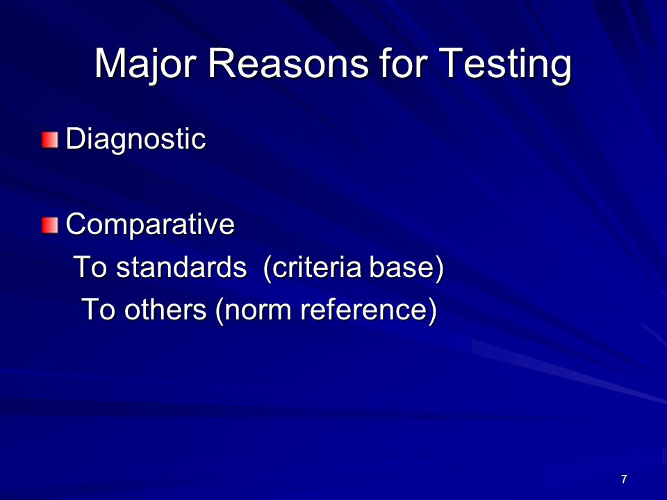 8 What is being tested?