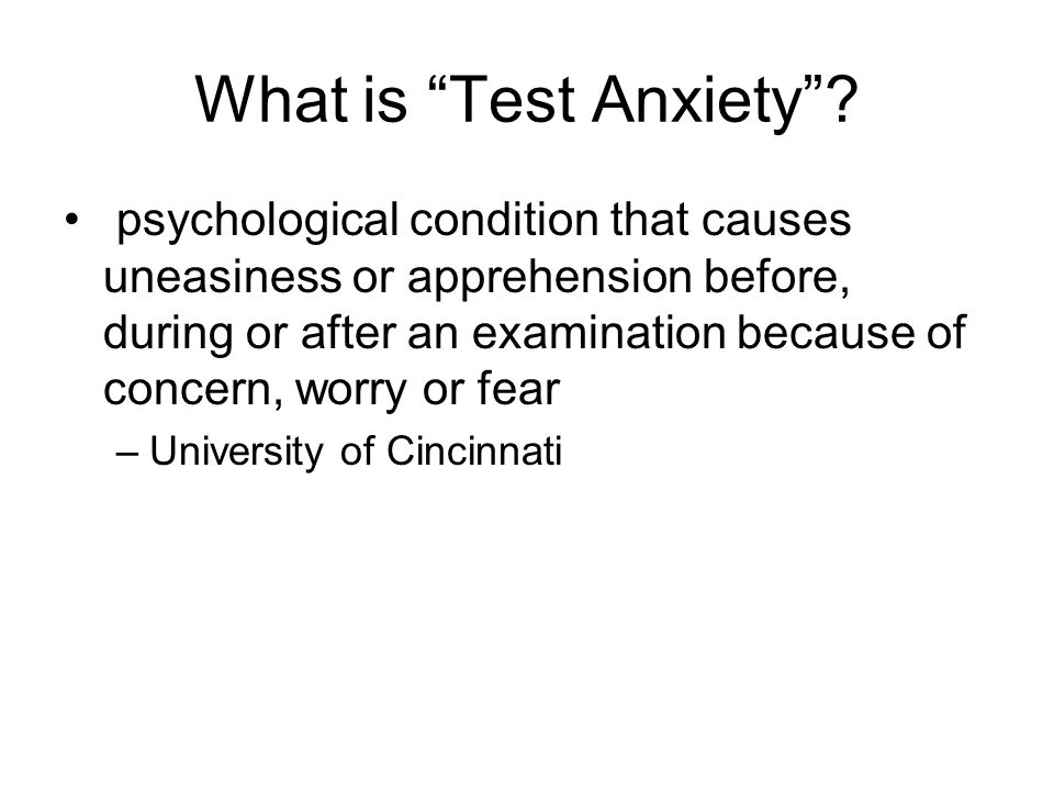 What is Test Anxiety.