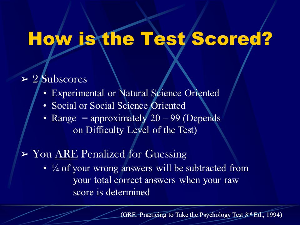How is the Test Scored.