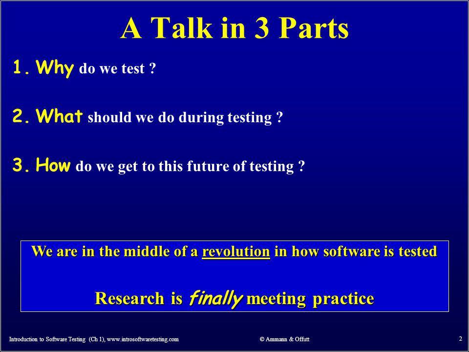 Why Test.