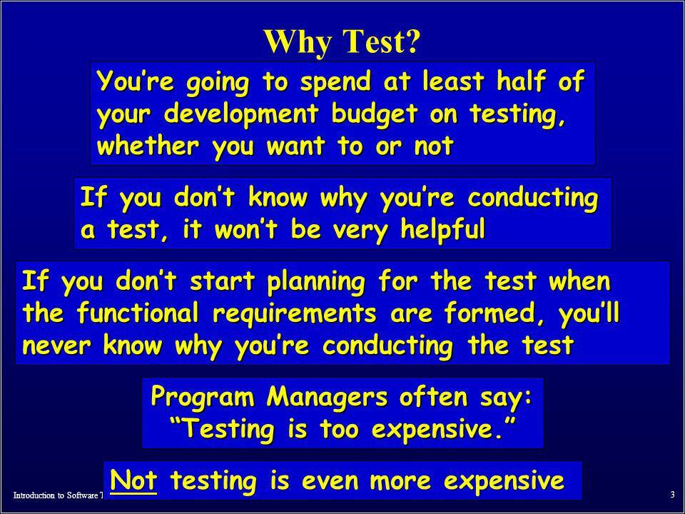 Introduction to Software Testing (Ch 1), www.introsoftwaretesting.com © Ammann & Offutt 4 Part 2 : What .