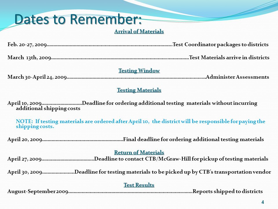 Field Test Items Field Test items are embedded throughout the test (EFTs) The testing period includes additional time for the EFTs 55