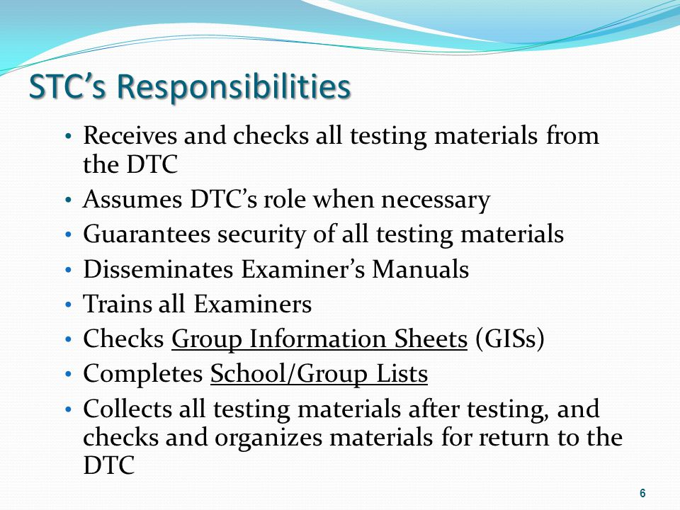 Step 1:Preparing for Testing (Pages 1-4) Testing Schedules – Page 1 for all content areas Review the test directions in the Examiners Manual in advance Testing materials shall not be viewed by Examiners before testing with few exceptions, e.g.
