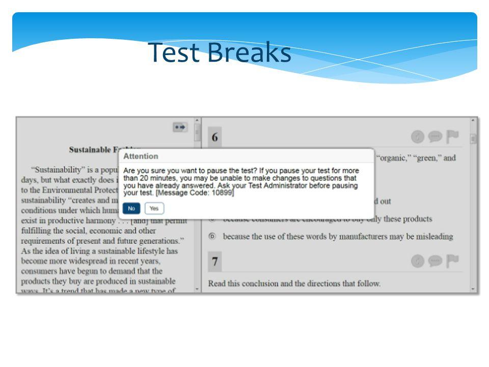 Test Breaks