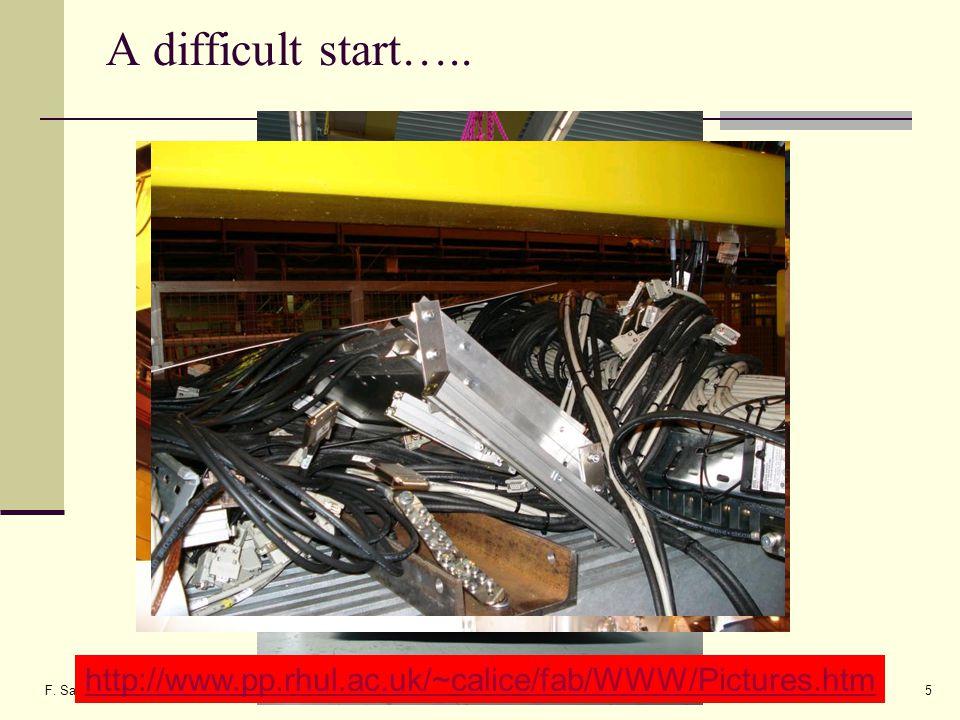 F. Salvatore, RHUL5 A difficult start…..