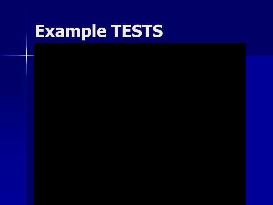 Example TESTS