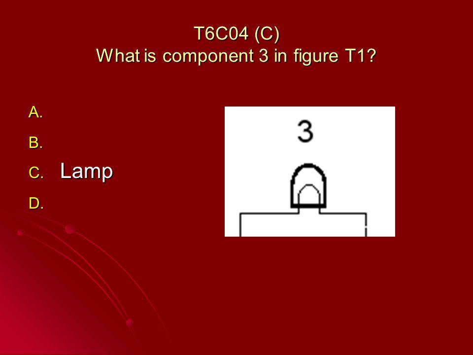 T6C04 (C) What is component 3 in figure T1? A. A. B. B. C. Lamp D. D.