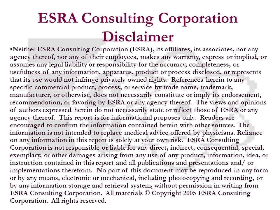 23 We proudly introduce the ESRA Dynamic Vision Assessment for Transportation DVAT © Copyright 2005 ESRA Consulting Corporation.