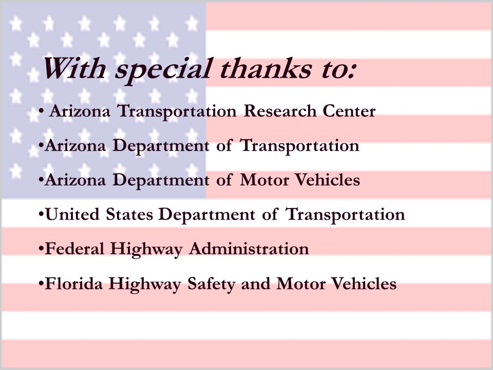 54 Please refer to the ESRA reports, SPR 559: New, Improved, Comprehensive, and Automated Driver s License Test and Vision Screening System FHWA-AZ-04-559(1) for further information, including the safety and research of these products and others.
